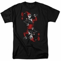 Harley Quinn t-shirt Quinn Of Diamonds mens black