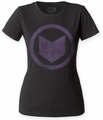 Hawkeye Distressed Icon juniors crew black womens pre-order