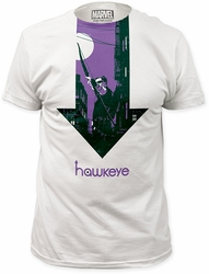 Hawkeye t-shirt Arrow Soft Fitted 30/1 mens white pre-order