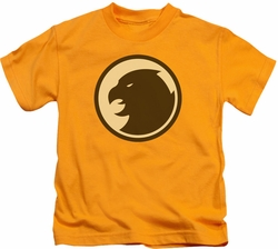 Hawkman kids t-shirt Symbol gold