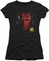 Hellboy II juniors t-shirt Hellboy Head black