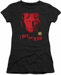 Hellboy II juniors t-shirt I Bet On Red black