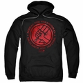 Hellboy II pull-over hoodie BPRD Logo adult black
