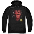 Hellboy II pull-over hoodie Hellboy Head adult black