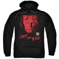 Hellboy II pull-over hoodie I Bet On Red adult black