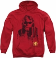 Hellboy II pull-over hoodie Splatter Gun adult red
