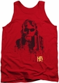 Hellboy II tank top Splatter Gun mens red