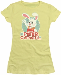 Here Comes Peter Cottontail juniors t-shirt Peter Wave banana