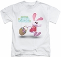 Here Comes Peter Cottontail kids t-shirt Hop Around white