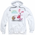 Here Comes Peter Cottontail pull-over hoodie Hop Around adult white
