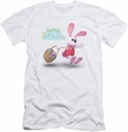 Here Comes Peter Cottontail slim-fit t-shirt Hop Around mens white