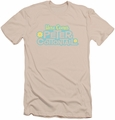 Here Comes Peter Cottontail slim-fit t-shirt Logo mens cream