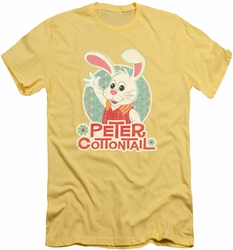 Here Comes Peter Cottontail slim-fit t-shirt Peter Wave mens banana