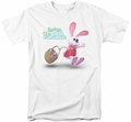 Here Comes Peter Cottontail t-shirt Hop Around mens white