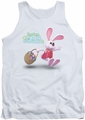 Here Comes Peter Cottontail tank top Hop Around mens white