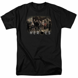 Heroes t-shirt Cast mens black