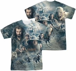 Hobbit mens full sublimation t-shirt Epic Poster