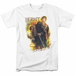 Hobbit t-shirt Bilbo mens white