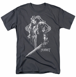 Hobbit t-shirt King Thorin mens charcoal