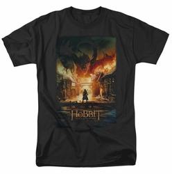 Hobbit t-shirt Smaug Poster mens black