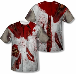 Horror mens full sublimation t-shirt Rippied Zombie