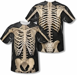 Horror mens full sublimation t-shirt Skeleton Costume