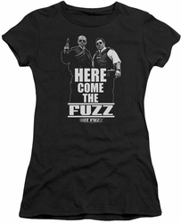 Hot Fuzz juniors t-shirt Here Come The Fuzz black