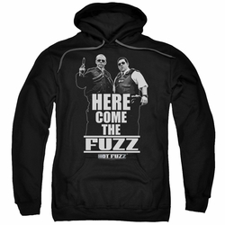 Hot Fuzz pull-over hoodie Here Come The Fuzz adult black