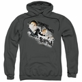 Hot Fuzz pull-over hoodie Punch That adult charcoal