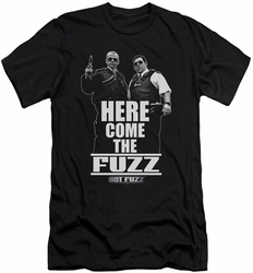 Hot Fuzz slim-fit t-shirt Here Come The Fuzz mens black