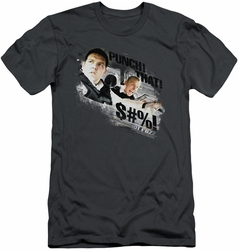 Hot Fuzz slim-fit t-shirt Punch That mens charcoal