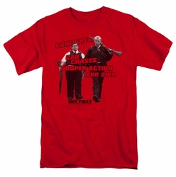 Hot Fuzz t-shirt Day's Work mens red