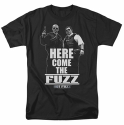 Hot Fuzz t-shirt Here Come The Fuzz mens black