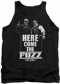 Hot Fuzz tank top Here Come The Fuzz mens black