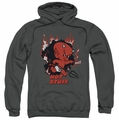 Hot Stuff pull-over hoodie Singe adult charcoal
