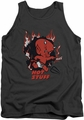 Hot Stuff tank top Singe mens charcoal