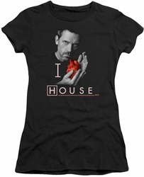 House juniors t-shirt I Heart House black