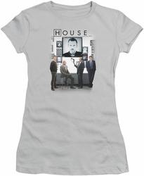 House juniors t-shirt The Cast silver