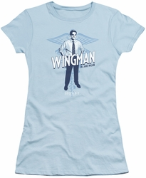 House juniors t-shirt Wingman light blue