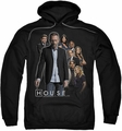 House pull-over hoodie Crew adult black