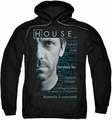 House pull-over hoodie Houseisms adult black