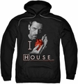 House pull-over hoodie I Heart House adult black