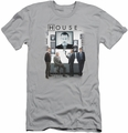House slim-fit t-shirt The Cast mens silver