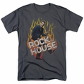House t-shirt Rock The House mens charcoal