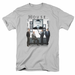 House t-shirt The Cast mens silver