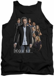 House tank top Crew mens black