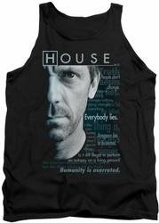 House tank top Houseisms mens black