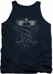 House tank top Humanity Is Overrated mens navy