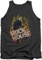 House tank top Rock The House mens charcoal