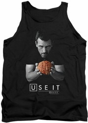 House tank top Use It mens black